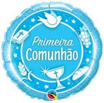 Imagens de BALÃO FOIL COMUNHÃO AZUL