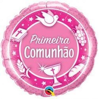 Imagens de BALÃO FOIL COMUNHÃO ROSA