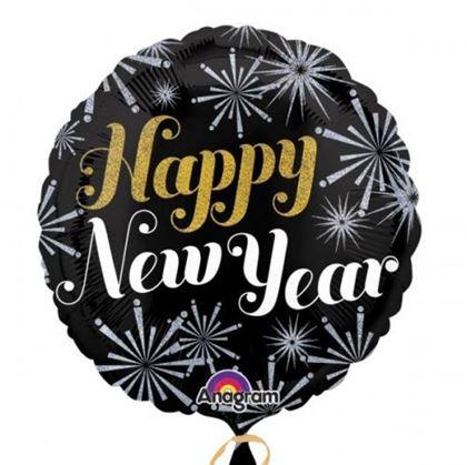 Imagens de BALÃO FOIL HAPPY NEW YEAR STANDART