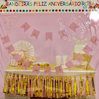 Imagens de BANDEIROLAS FELIZ ANIVERSÁRIO ROSA GLAMOUR