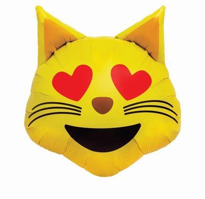 Imagens de BALÃO FOIL EMOJI CAT HEART EYES