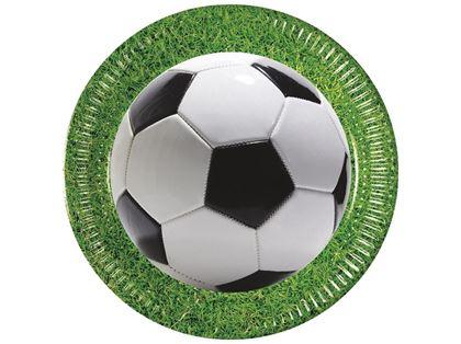 Imagens de PRATOS DE PAPEL 23CM FOOTBALL PARTY (FUTEBOL)