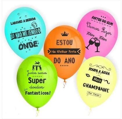 Imagens de 10 BALÕES COM FRASES PARA DESPEDIDAS DE SOLTEIRO/A