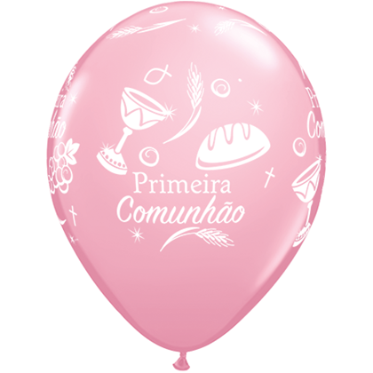 """Imagens de BALÃO """"PRIMEIRA COMUNHÃO"""" ROSA"""