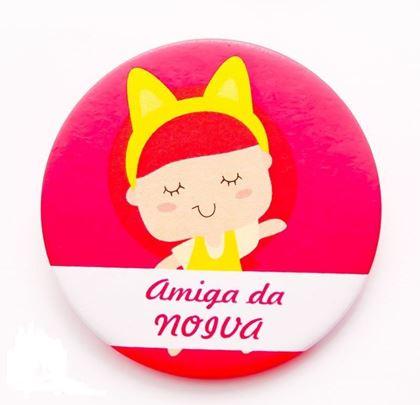 """Imagens de CRACHÁ ALFINETE """"AMIGA DA NOIVA"""""""