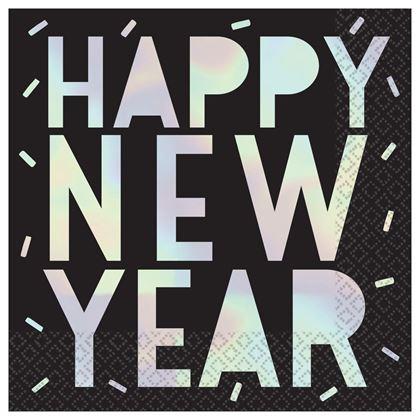 Imagens de GUARDANAPOS DISCO BALL IRIDESCENTE HAPPY NEW YEAR
