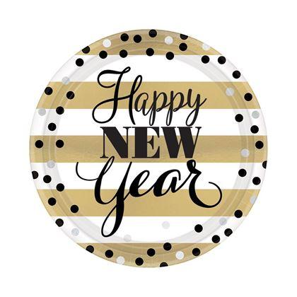 Imagens de PRATOS 18CM GOLDEN NEW YEAR