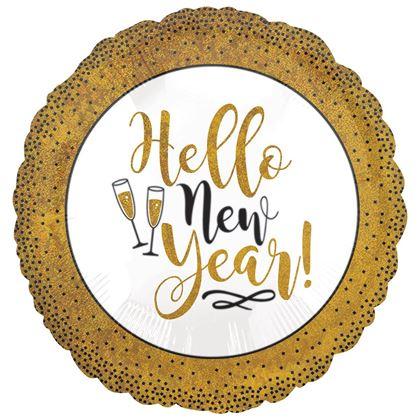 Imagens de BALÃO FOIL STANDART GOLD GLITTER NEW YEAR