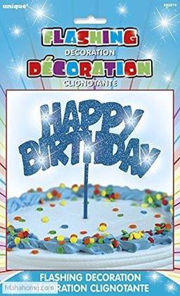 Imagens de DECORAÇÃO HAPPY BIRTHDAY C/ LUZES AZUL