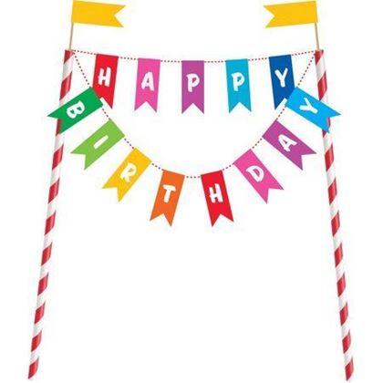Imagens de TOPO DE BOLO HAPPY BIRTHDAY COLORIDO