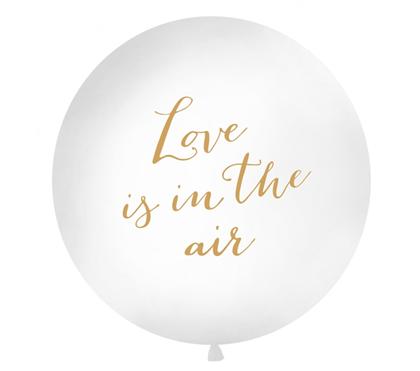 Imagens de BALAO LÁTEX 1 METRO BRANCO LOVE IS IN THE AIR