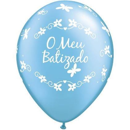 """Imagens de BALÃO """"O MEU BATIZADO"""" AZUL"""