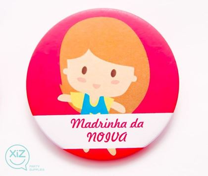 """Imagens de CRACHÁ ALFINETE """"MADRINHA DA NOIVA"""""""
