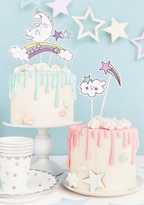 Imagens de 5 CAKE TOPERS UNICÓRNIO