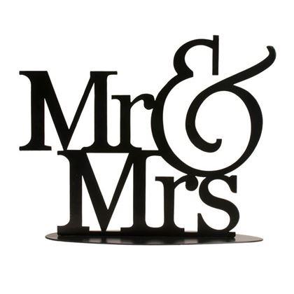 Imagens de TOPO EM METAL MR&MRS PRETO