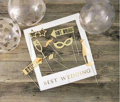 Imagens de KIT COM MOLDURA BEST WEDDING