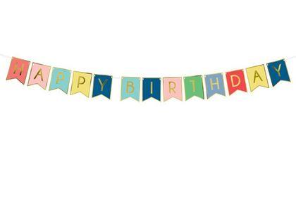 Imagens de BANNER COLORIDO HAPPY BIRTHDAY 15X175CM