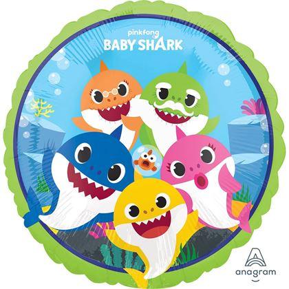 """Imagens de BALÃO FOIL 18"""" BABY SHARK"""