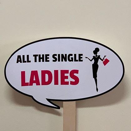 "Imagens de PLACA ""ALL THE SINGLE LADIES"""