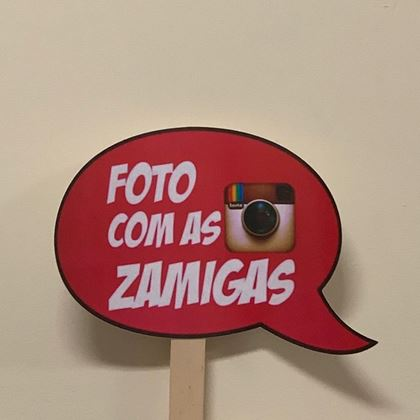 """Imagens de PLACA """"FOTO COM AS ZAMIGAS"""""""