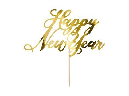 Imagens de TOPPER HAPPY NEW YEAR DOURADO 24CM