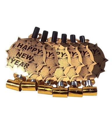 Imagens de 6 LINGUAS DA SOGRA HAPPY NEW YEAR OURO