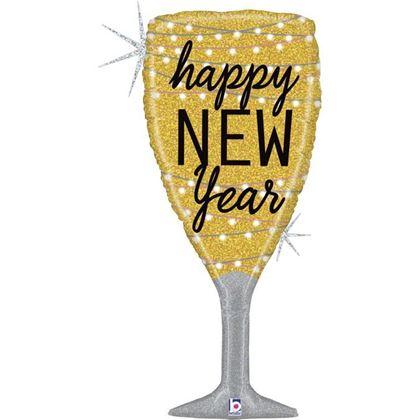 Imagens de BALÃO FOIL TAÇA CAMPANHE HAPPY NEW YEAR