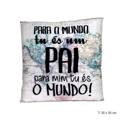 """Imagens de ALMOFADA """"MUNDO"""" PAI 35X35CM"""