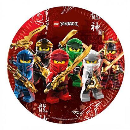 Imagens de 8 PRATOS 23CM LEGO NINJAGO