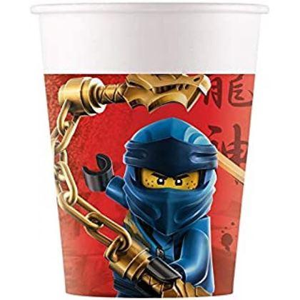 Imagens de 8 COPOS PAPEL LEGO NINJAGO