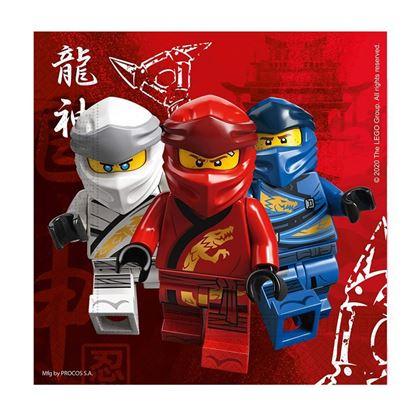 Imagens de 20 GUARDANAPOS LEGO NINJAGO