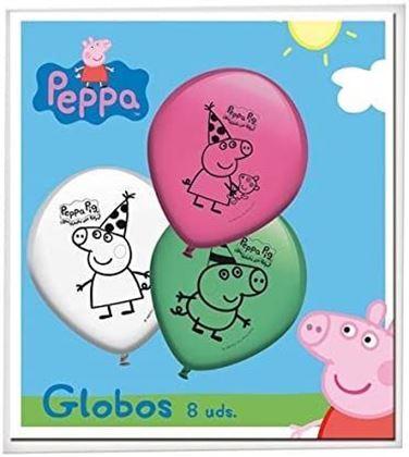 Imagens de 8 BALÕES LATEX PEPPA PIG