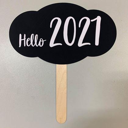 "Imagens de PLACA ""HELLO 2021"""