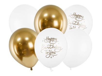 Imagens de SACO 6 BALÕES HAPPY BIRTHDAY TO YOU MIX