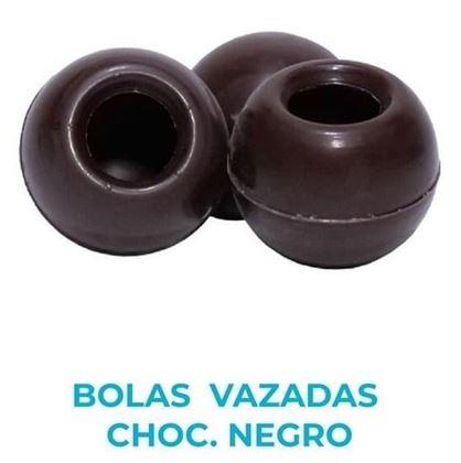 Imagens de BOLAS VAZADAS CHOC. NEGRO 21 UNIDADES