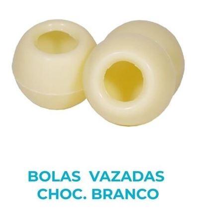 Imagens de BOLAS VAZADAS CHOC. BRANCO 21 UNIDADES