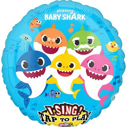 Imagens de BALÃO FOIL MUSICAL BABY SHARK 71CM