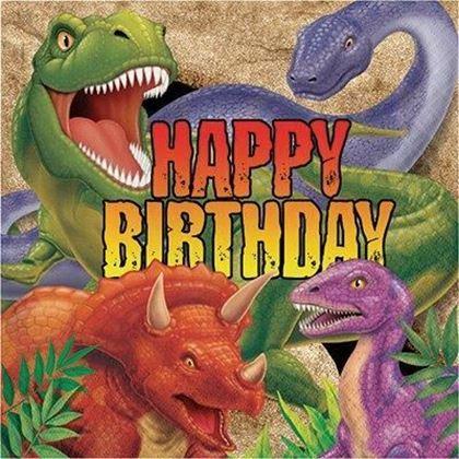 Imagens de GUARDANAPOS DINOSSAUROS HAPPY BIRTHDAY