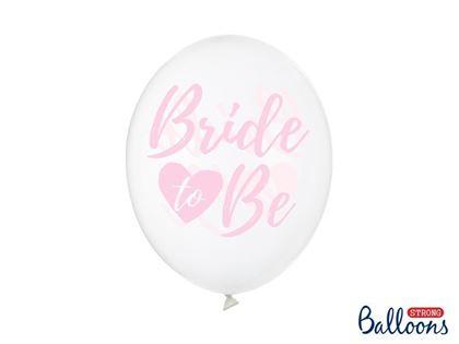Imagens de 6 BALÕES LATEX BRIDE TO BE CRYSTAL CLEAR