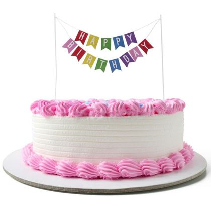 Imagens de CAKE TOPPER BANDEIRA HAPPY BIRTHDAY