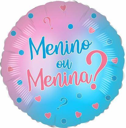"""Imagens de BALÃO FOIL 18"""" MENINO OU MENINA"""