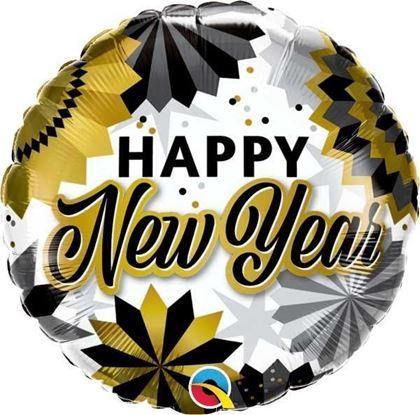 """Imagens de BALÃO FOIL 18"""" NEW YEAR BLACK & GOLD"""