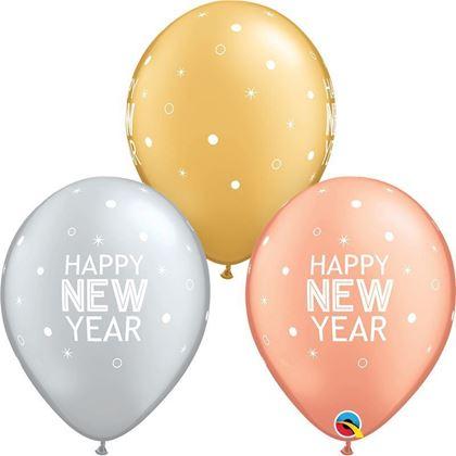 "Imagens de 6 BALÕES LATEX 11"" NEW YEAR SPARKLES"